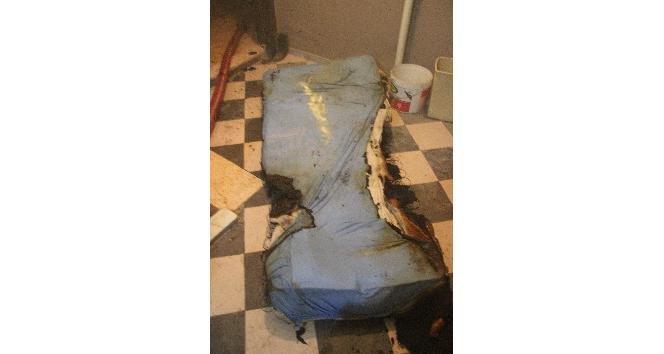 Elektrik battaniyesi yangına sebep oldu!