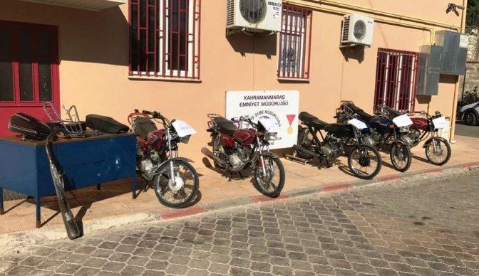 Kahramanmaraş'ta Motosiklet Hırsızlarına Operasyon