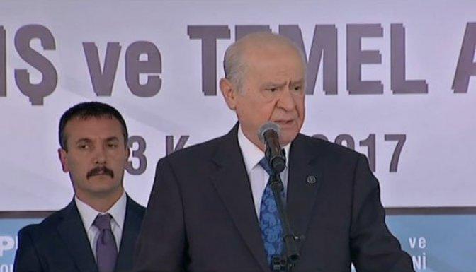 Bahçeli: 'AK Parti ile yan yanayız'