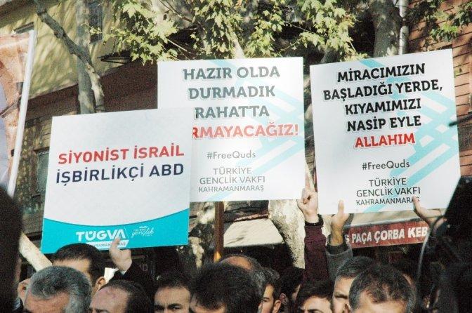 Cuma namazı sonrası Kudüs protestosu