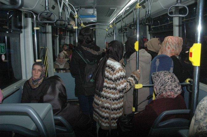 Kadınlara özel otobüse kadın şoför
