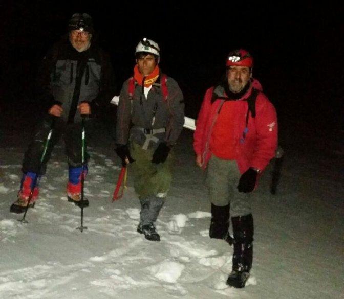 Berit Dağı, kış tırmanışı ve bayrak töreni yapıldı