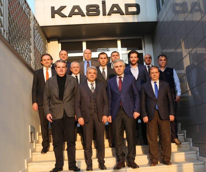KMTSO yönetimi, KASİAD ile bir araya geldi