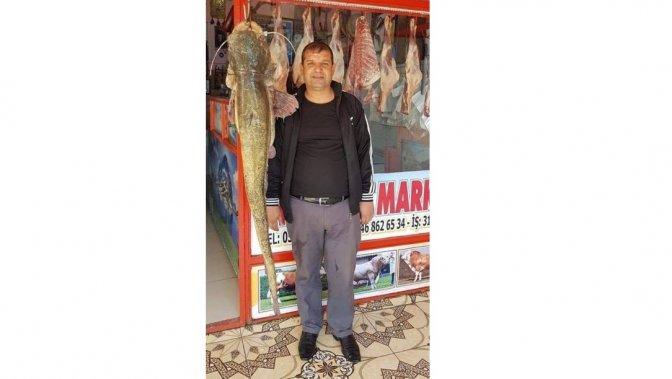 Oltayla 45 kiloluk balık yakaladı