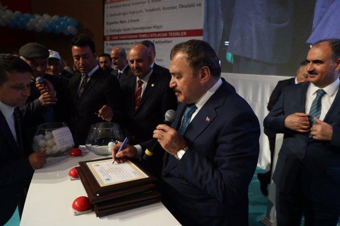 Bakan Eroğlu, 5 tesisin temelini attı