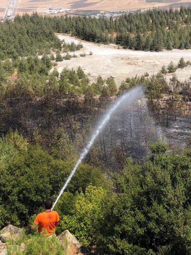 Çifte orman yangını korkuttu