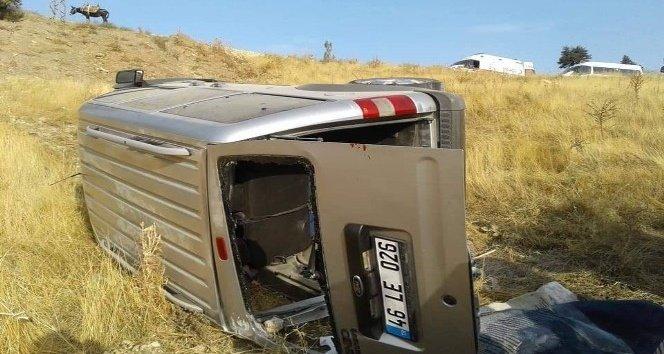 Şarampole yuvarlanan araçta 1 kişi öldü!