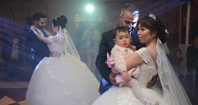 Japon gelinlere 'Türk' usulü düğün