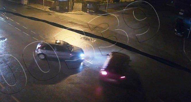 Drift yaparken polis kameralarına yakalandılar