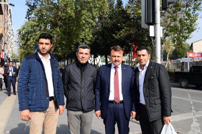 Başkan Erkoç'tan esnafları ziyaret etti