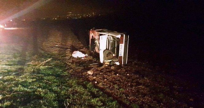 Yoldan çıkan otomobil takla attı: 1 ölü, 1 yaralı!