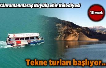 Kahramanmaraş Büyükşehir Belediyesi Tekne turlarına başlıyor...