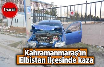 Kahramanmaraş Elbistan'da kaza !