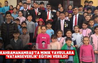 Kahramanmaraş'ta minik öğrencilere 'vatanseverlik' eğitimi