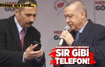 Mitinge ara verdi... Kahramanmaraş'ta Başkan Erdoğan'a sır gibi telefon!
