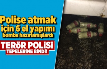 Polise atmak için 6 el yapımı bomba hazırlamışlardı... Terör polisi tepelerine bindi