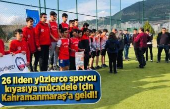 26 ilden yüzlerce sporcu kıyasıya mücadele için Kahramanmaraş'a geldi!