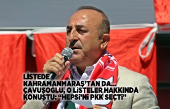 Bakan Çavuşoğlu liste hakkında konuştu