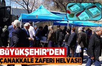 Büyükşehir'den Çanakkale Zaferi helvası!