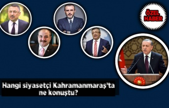 Kahramanmaraş'ta hangi siyasetçi ne konuştu?