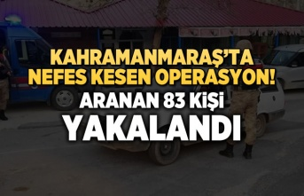 Kahramanmaraş'ta nefes kesen operasyon! 83 kişi...