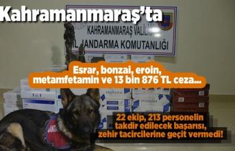 Kahramanmaraş'ta zehir tacircilerine yine geçit verilmedi!