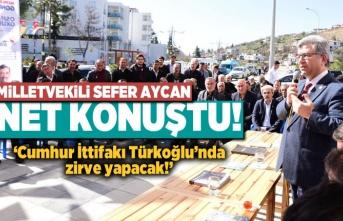 Milletvekili Aycan net konuştu! 'Cumhur İttifakı Türkoğlu'nda zirve yapacak!'
