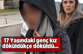 Samsun'da dikkat çeken genç kız gözaltına alındı.