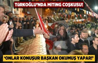 Türkoğlu'nda miting coşkusu! Yüzlerce araçla oraya gittiler...
