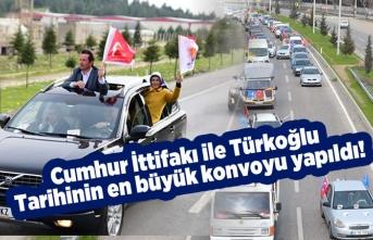 Türkoğlu'nda Osman Okumuş önderliğinde dev konvoy gerçekleştirildi...
