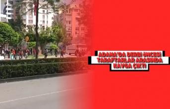 Adana'da derbiden  önce taraftarlara arasında kavga çıktı!