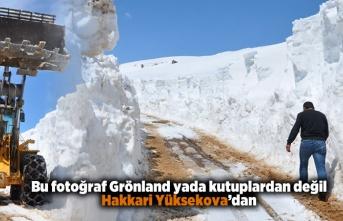 Bu fotoğraflar Grönland yada kutuplardan değil, Hakkari Yüksekova'dan!