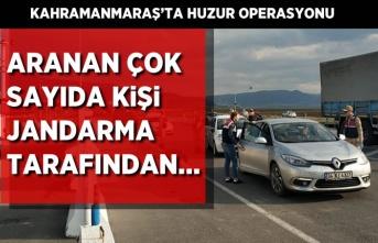 Kahramanmaraş'ta farklı suçlardan aranan çok sayıda kişi jandarma tarafından...