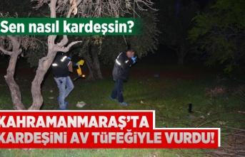 Kahramanmaraş'ta kardeşini av tüfeğiyle vurdu!