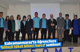 Kahramanmaraş'ta öğrencilere seminer