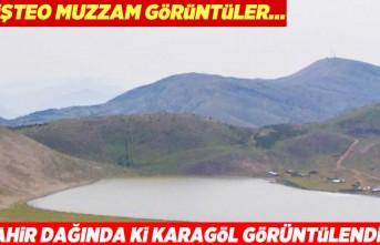 Ahir dağında ki kara göl havadan görüntülendi!