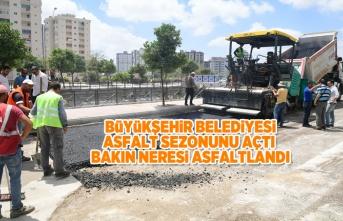 Büyükşehir belediyesi asfalt sezonunu açtı