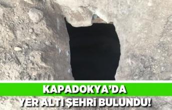 Kapadokya'da yer altı şehri bulundu!