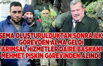 Tarımsal Hizmetler Daire Başkanı Mehmet Pişkin görevinden alındı