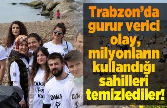 Trabzon'da gurur verici olay, milyonların kullandığı sahilleri temizlediler!