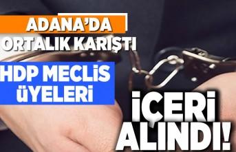 Adana'da ortalık karıştı! HDP meclis üyeleri içeri alındı!