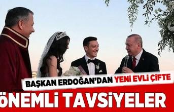 Başkan Erdoğan'dan yeni evli çifte önemli tavsiyeler