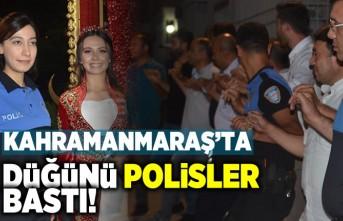 Kahramanmaraş'ta düğünü Polisler bastı!