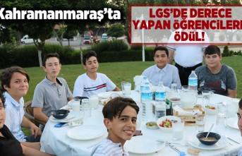 Kahramanmaraş'ta LGS'de derece yapar öğrencilere ödül!