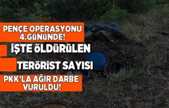Pençe operasyonunda 4.günde işte öldürülen terörist sayısı...