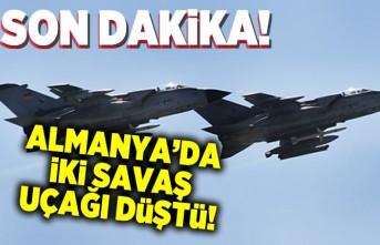 SON DAKiKA!!! Almanya'da iki savaş uçağı düştü!