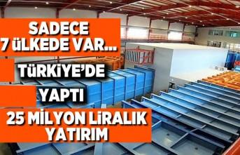 Türkiye'de yaptı 25 milyonluk liralık yatırım!
