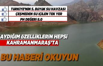 Türkiye'nin 5.büyük havzası Kahramanmaraş'ta