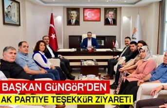 Başkan Güngör'den Ak Parti'ye teşekkür ziyareti!