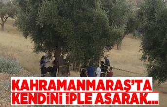 Kahramanmaraş'ta feci ölüm!  Kendini ağaca iple...